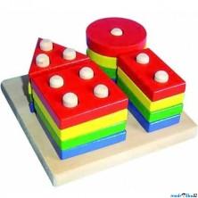 Skládačka - Základní tvary na desce (Woto)