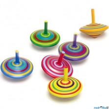 Drobné hračky - Káča dřevěná, Pruhovaná, 1ks (Legler)