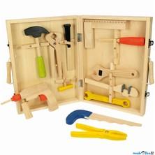 Malý kutil - Kufřík s dřevěným nářadím KIDS (Bigjigs)