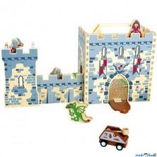 Hrad dřevěný - Rytířský hrad v kufříku (Legler)