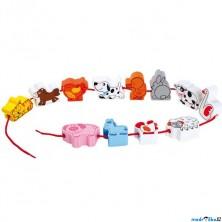 Navlékání tvarů - Zvířata na selském dvoře (Legler)