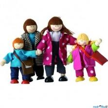 Panenky do domečku - Rodinka 4 osoby (Woody)