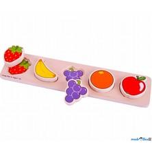 Puzzle pro nejmenší - Vkládačka dlouhá, Ovoce (Bigjigs)
