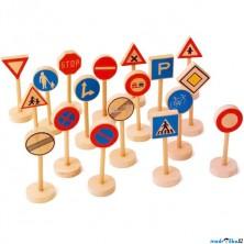 Vláčkodráha set příslušenství - Dopravní značky, 18ks (Legler)