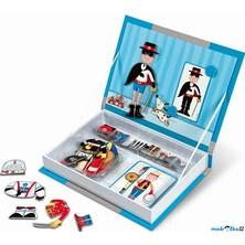 Puzzle magnetické - Kniha, Oblékání chlapci (Janod)