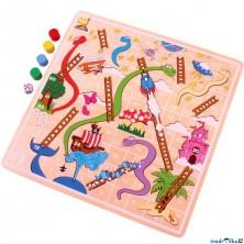 Společenská hra - Žebříky a hadi (Bigjigs)