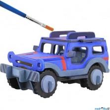3D Puzzle s barvami - Jeep (4 barvy + štětec)