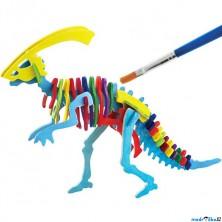 3D Puzzle s barvami - Parasaurolophus (4 barvy + štětec)