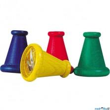 Drobné hračky - Muší oko dřevěné barevné, 1ks (Goki)