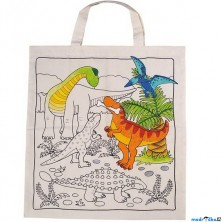 Malování na textil - Taška bavlněná, Dinosauři (Goki)