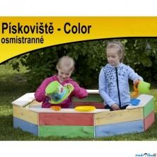 Pískoviště dřevěné - Osmistranné barevné