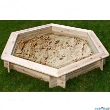 Pískoviště dřevěné - Šestihranné přírodní