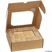 Kostky - Dřevěné dominové přírodní, 200ks