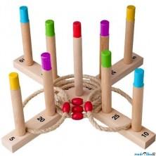 Hra s kroužky - Házení kroužků na kříž, velké (Woody)