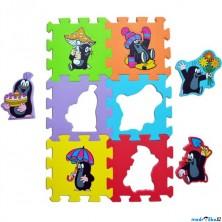 Puzzle pěnové - 15x15cm, 6ks, Krtek (HM Studio)