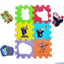 Puzzle pěnové - 15x15cm, 6ks, Krtek a hudební nástroje (HM Studio)