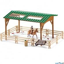 Schleich - Jezdecký klub, Areál s koněm a příslušenstvím