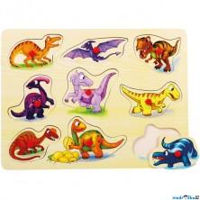 Puzzle vkládací - Dinosauři, 9ks (Bino)