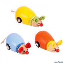 Zvířátko na kolečkách - Natahovací, Myška, 1ks (Bigjigs)