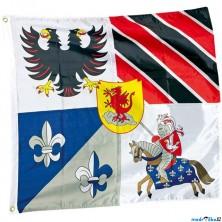 Vlajka látková - Rytířská vlajka, 100x95cm (Legler)