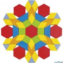 Mozaika - Dřevěná v kyblíku, 250 dílků (Goki)