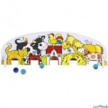 Motorická hra - Kuličky na doma, Farma (Goki)