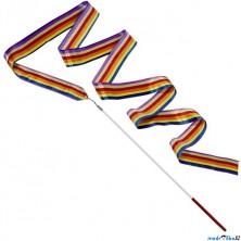 Gymnastická stuha s hůlkou - Duhová (Goki)