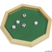 Společenská hra - Hra v kostky s hrací deskou (Goki)