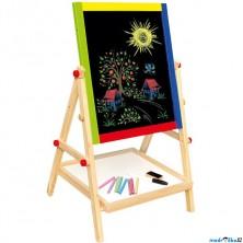 Kreslící tabule - Oboustranná magnet - křída, 65cm (Bino)