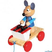Tahací hračka - Xylofón myš (Bino)
