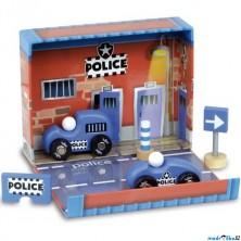 Auto - Set dřevěný v boxu, Policie (Vilac)
