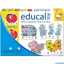 Didaktická hra - Educal Toy, Hraj si a počítej (Bino)