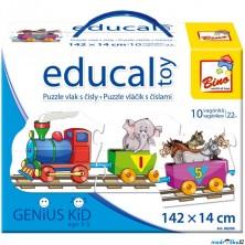 Didaktická hra - Educal Toy, Puzzle vlak s čísly (Bino)