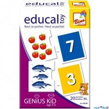 Didaktická hra - Educal Toy, Nauč se počítat od 1 do 20 (Bino)