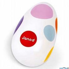 Hudba - Chrastící vajíčko, bílé (Janod)