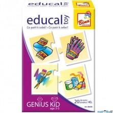 Didaktická hra - Educal Toy, Co patří k sobě? (Bino)