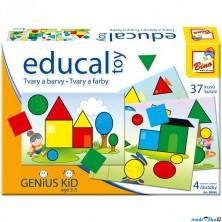 Didaktická hra - Educal Toy, Hra s tvary a barvami (Bino)