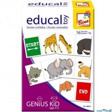 Didaktická hra - Educal Toy, Sestav řetěz ze zvířátek (Bino)