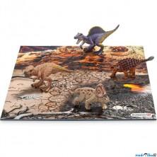 Schleich - Dinosaurus set, Mini 4 dinosauři + puzzle (set 1)