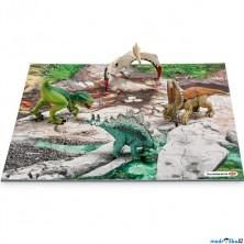 Schleich - Dinosaurus set, Mini 4 dinosauři + puzzle (set 2)