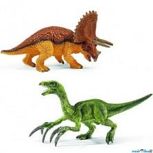Schleich - Dinosaurus set, Triceratops a Therizinosaurus