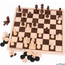 Společenské hry - Šachy a dáma (Bigjigs)