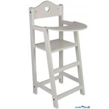 Židlička pro panenky - Bíle lakované dřevo (Legler)