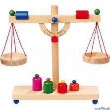 Prodejna - Váha dřevěná páková se závažím (Legler)