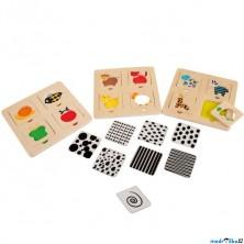 Puzzle výukové - Vzory zvířátek, 12ks (Legler)
