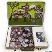 Puzzle magnetické - Kufřík, Roboti (Legler)