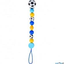 Klip na dudlík - Fotbal modrý (Heimess)