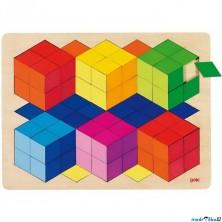 Puzzle na desce - Velké A3, 3D efekt, 86ks (Goki)