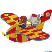 Závěsná hračka - Letadlo se zvířátky červené (Goki)