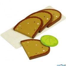 Kuchyň - Plátky chleba na prkýnku (Goki)